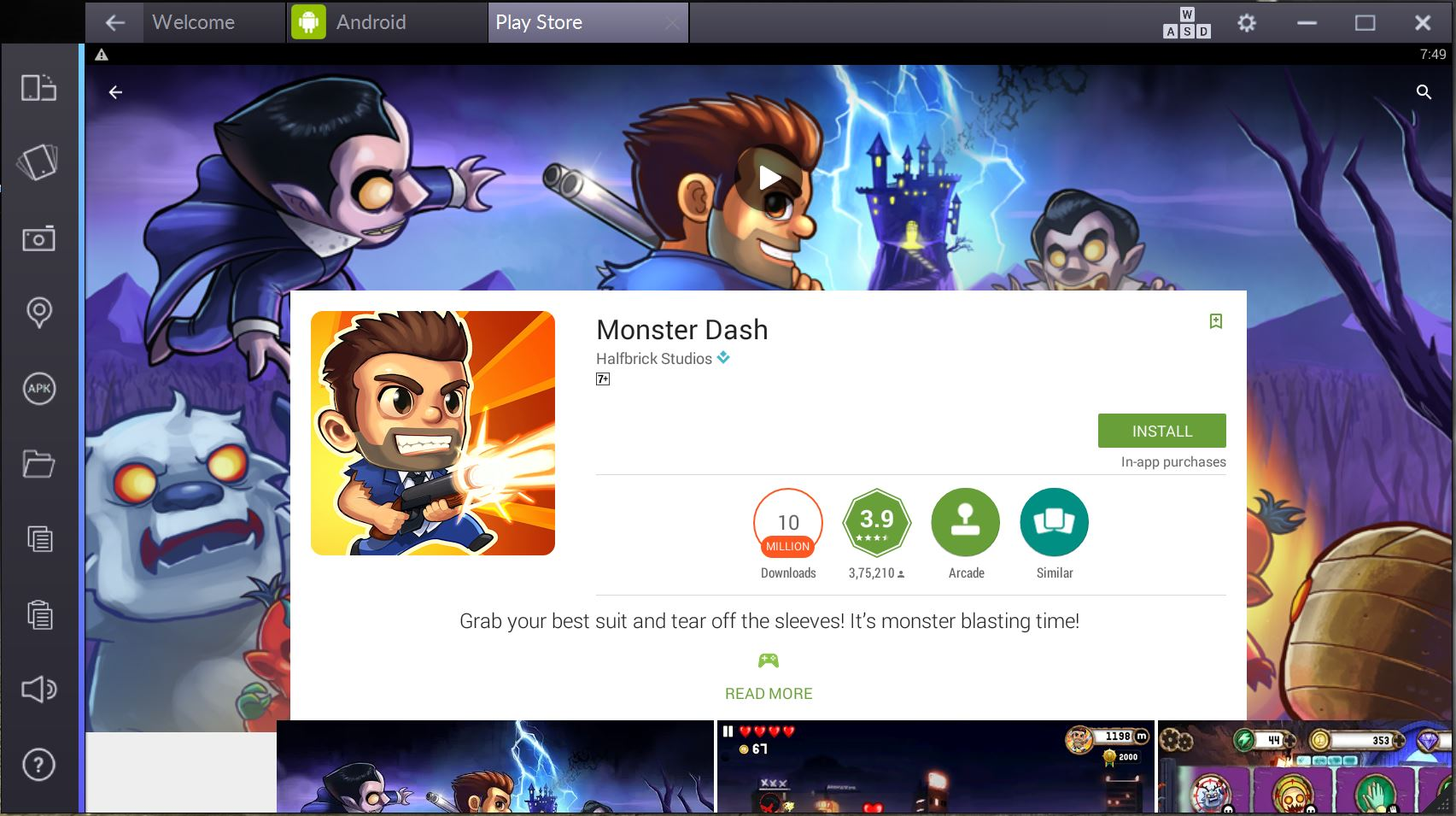 monster dash for pc computer