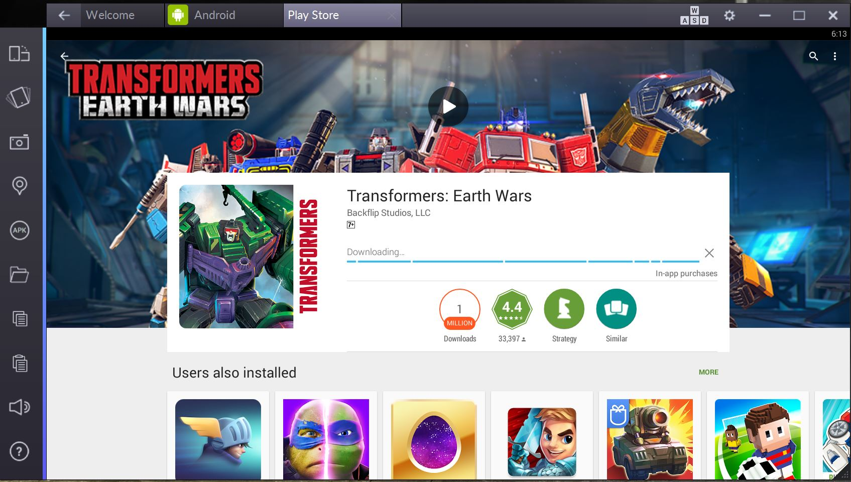 transformers: earth wars online pc