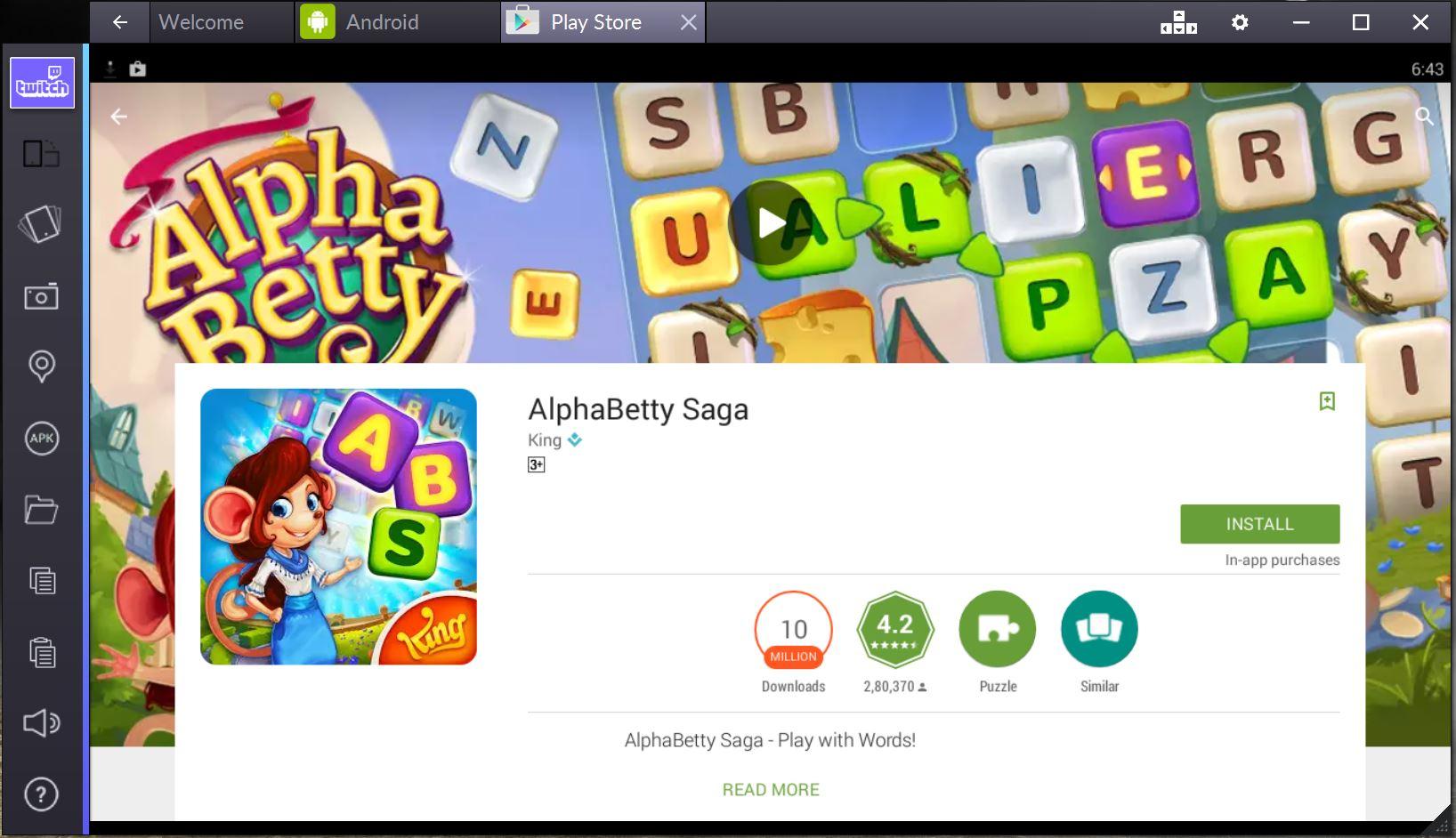 alphabetty saga pc download bluestacks