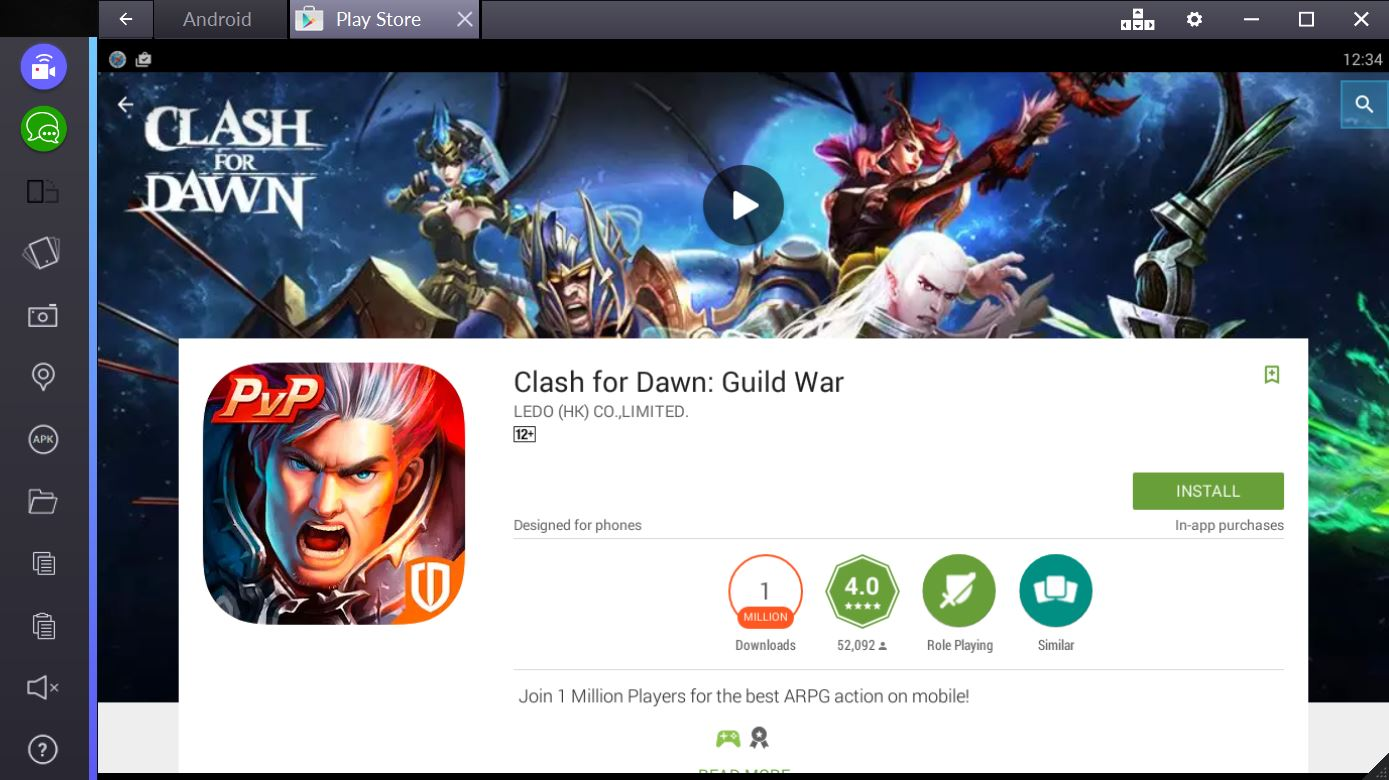 clash for dawn for pc bluestacks