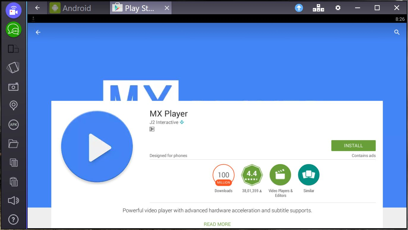 mx player for pc bluestacks