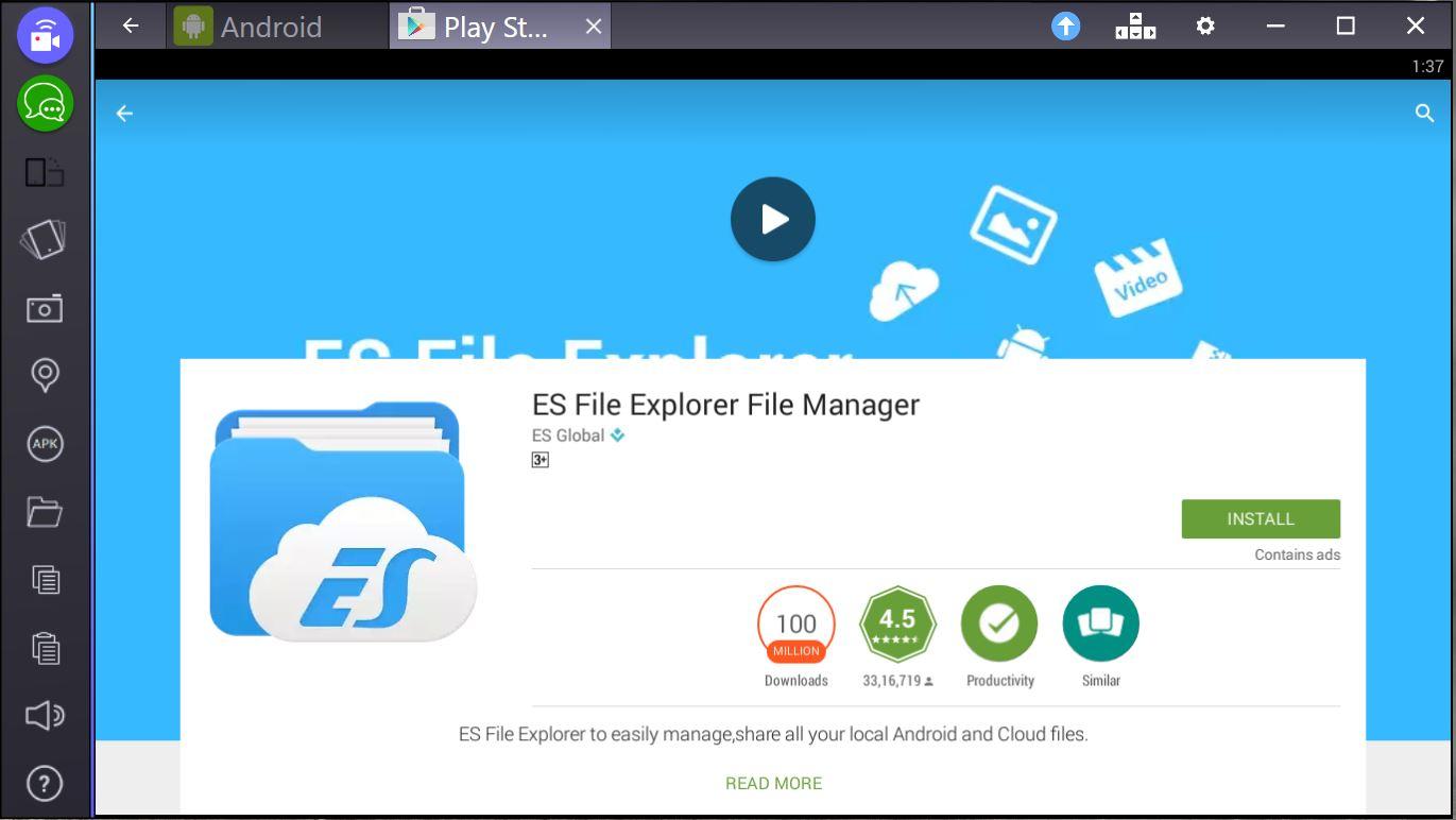 es file explorer for pc download