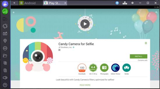 candy camera for pc mac bluestacks