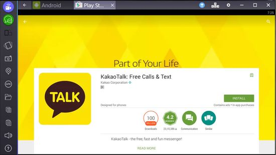 kakaotalk for pc bluestacks download