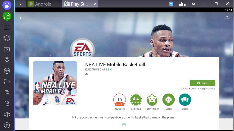 nba live mobile for pc bluestacks