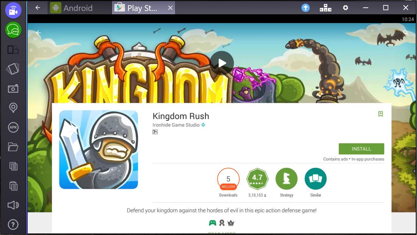 kingdom rush for pc mac bluestacks