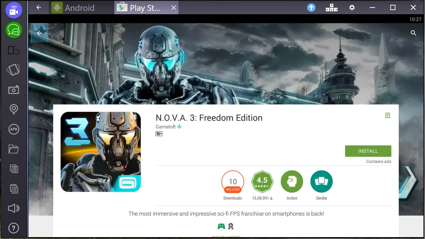 nova 3 freedom edition for pc mac bluestacks